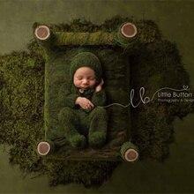 新生児の写真の小道具、ベビーモヘア足ロンパース衣装睡眠帽子赤ちゃんの写真の小道具