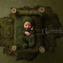 Neugeborenen fotografie requisiten, baby mohair footed strampler outfits mit schlafen hut für baby fotografie requisiten