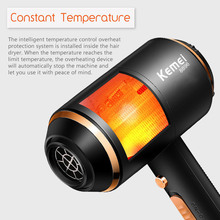 Kemei Ionic Hair Dryer 3 In 1 Strong Power 4000w Blow Dryer Electric 210-240v Professional Styling Dryer Hairdressing Equipment