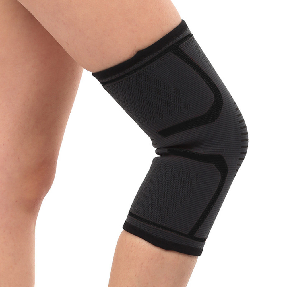 1 Pair Knee Support Sleeves Sports Fitness Brace Leg Relief Knee Protector Gear