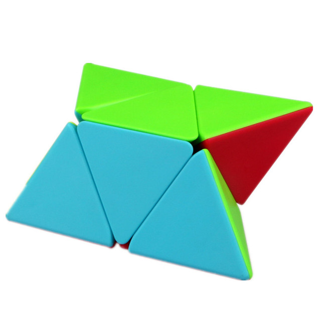 QIYI 2x2 Pyramid Cube Stickerless Magic Cubes Professional 2x2x2 Puzzle Speed Cube Educational Toys For Children 3