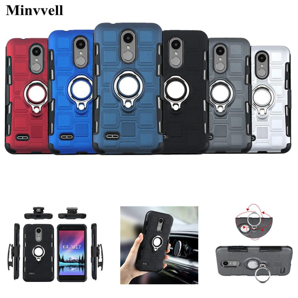 Case With Swivel Belt Clip For LG K4 K8 K10 2017 2018 K11 K12 Plus Case For LG Q6 Q8 Q7 Aipha Stylo 5 Stylus 3 Magnetic Cover