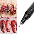 1 шт., черные кисти для рисования ногтей, УФ-Гель-лак в горошек