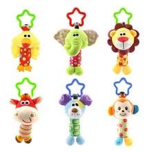 תינוק ילדים רעשן צעצועי קריקטורה בעלי החיים קטיפה יד פעמון תינוק עגלת עריסה תליית רעשנים Kawaii 6 Tpye עבור מתנה 35% off