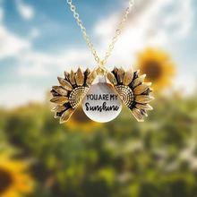 2020  new fashion women gold necklace custom you are my sunshine