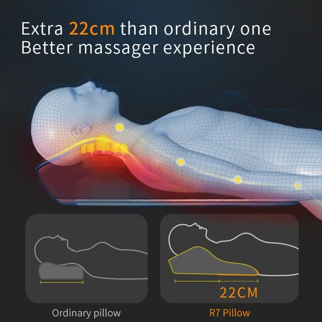 Jinkairui Neck Massager Car Home Cervical Shiatsu Massage Neck Back Waist Body Electric Multifunctional Massage Pillow Cushion 3