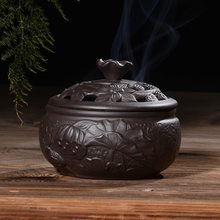 Incense Burner Home Indoor Ceramic Buddha Incense Road Creative Purple Sand Antique Line Incense Aromatherapy Furnace(China)