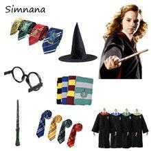 Robe Cape Potter Magic Cloak Suit Hogwarts Uniform Cosplay Ravenclaw Gryffindor Costumes Halloween For Kids Adult