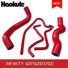 Wysokiej grzejnik wydajnościowy zestawy węży silikonowych dla G37/G27/370Z/Q60/Q40 przeznaczona do pojazdów miejskich, minivanów, wąż silikonowy do chłodnicy zestawy