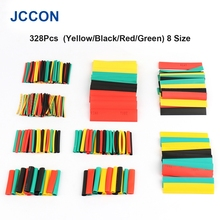 328Pcs Thermoresistant Tube Heat Shrink Wrapping Kit Car Shrinking Tubing Wire Wrap Assorted Sleeve Cable Insulation 8 Size