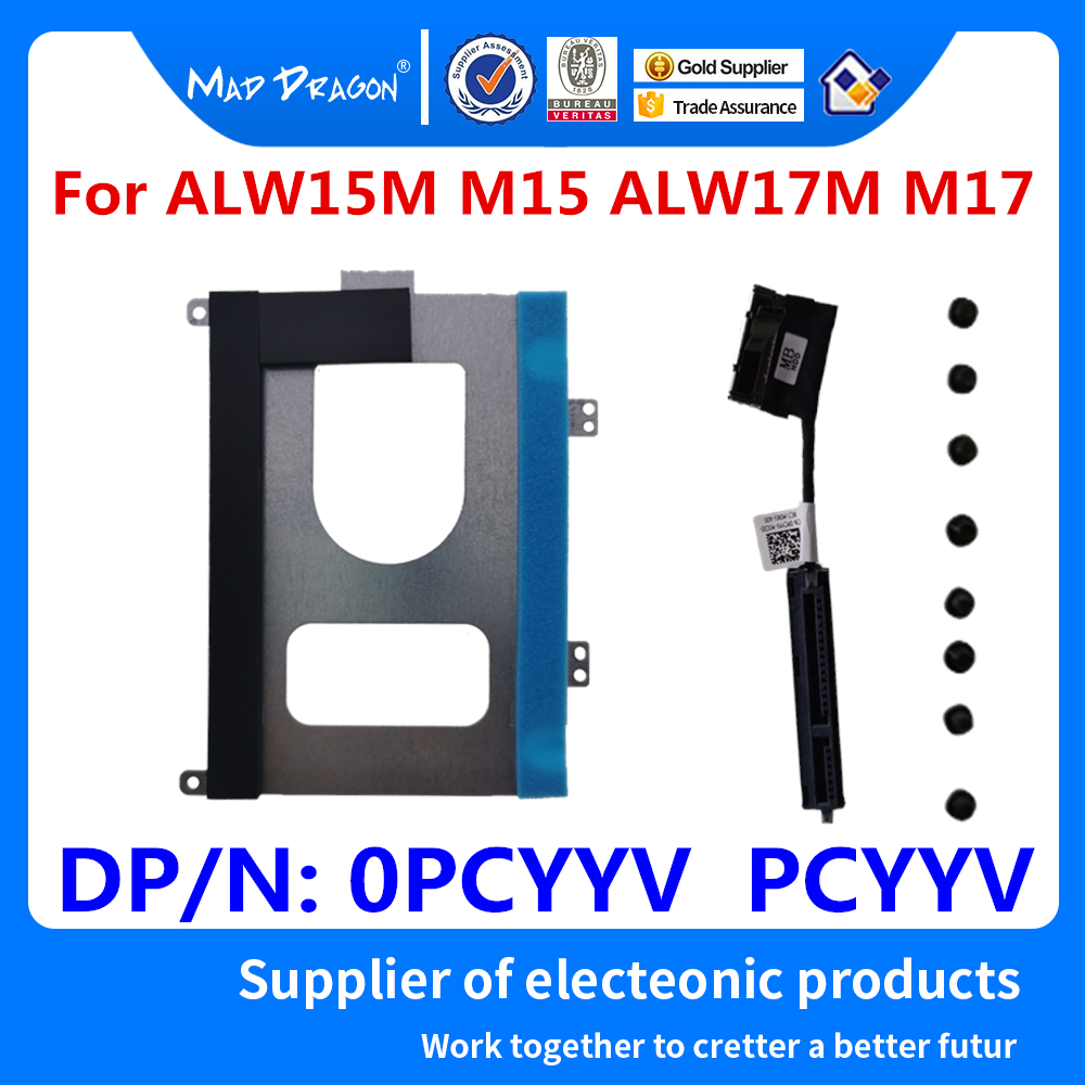 New HDD Cable SATA HDD Hard Drive Cable Connector SATA HDD Caddy Stand For Dell Alienware ALW15M M15 ALW17M M17  PCYYV 0PCYYV
