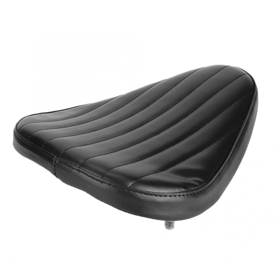 Coussin d'éponge de conducteur de siège de moto en cuir d'unité centrale de rayure noire convient pour le coussin de siège de moto de Prince de croisière d'haley nouveau