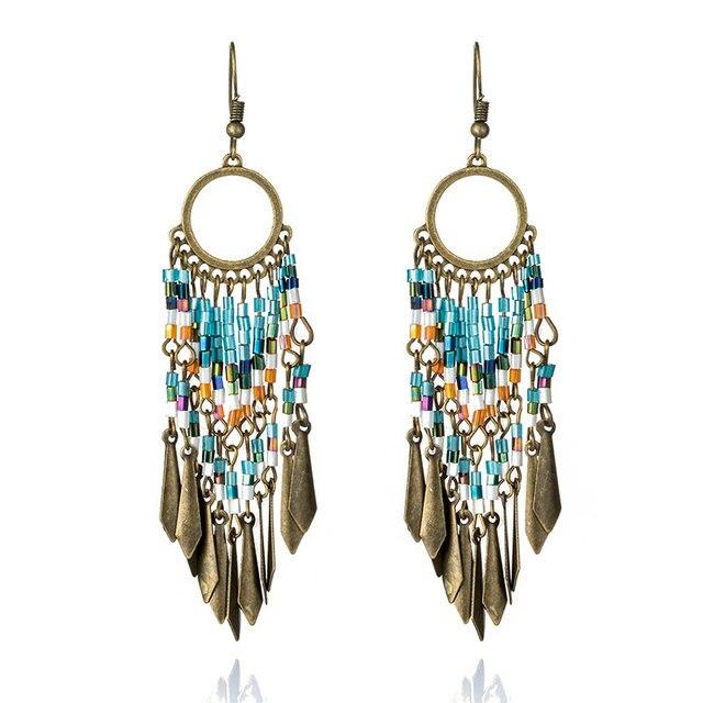 Bohemian earrings Gypsy earrings Long Earrings Dangle earrings Ethnic earrings Chandelier Earrings Boho earrings Tribal earrings