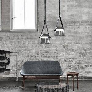 Image 3 - Post moderne Glas Anhänger Lichter Mona Led Gürtel Hängen Lampe Wohnzimmer Küche Leuchten Wohnkultur Suspension Leuchte