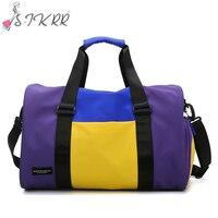 S.IKRR 2020 Casual Oxford Reisetaschen Trocken Nass Mode Handtaschen Sporttasche Fitness Wasserdicht Patchwork Große Duffle Tasche Frauen