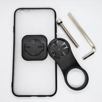 Suporte da montagem do telefone da pilha da bicicleta do tampão da haste com caso de tpu do pc montagem do telefone da bicicleta para o iphone 6/6 s/7/ 7 plus/8/8 plus/11 pro