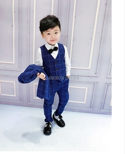 Top wysokiej jakości kwiaty chłopięce garnitur na wesele dżentelmen dzieci formalne smokingi żakiet z dzianiny dresowej dzieci wydajność sukienka kostium