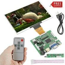 7 дюймов ЖК-дисплей Экран Дисплей монитор для Raspberry Pi + Драйвер платы HDMI/VGA/2AV