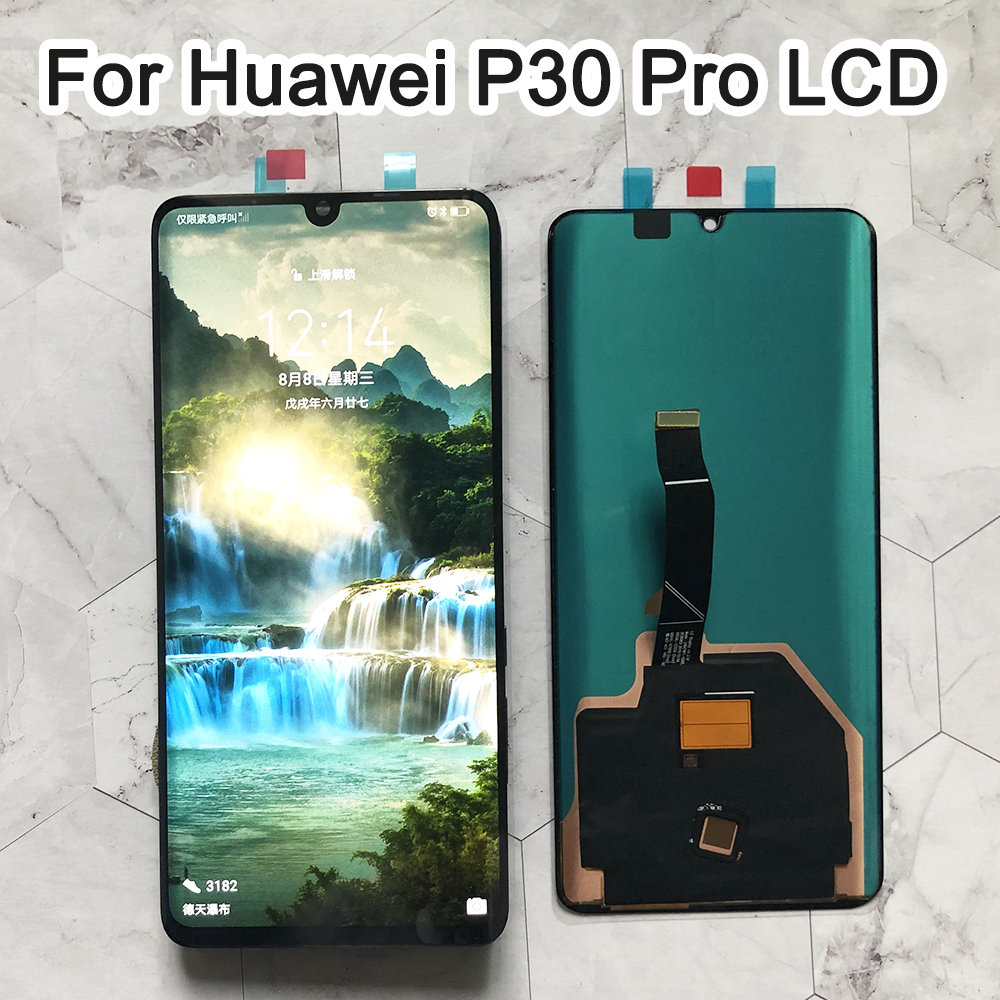 "6.47"" Display With Frame Replacement For Huawei P30 Pro LCD Touch Screen Digitizer Assembly VOG-L29 VOG-L09 VOG-L04"