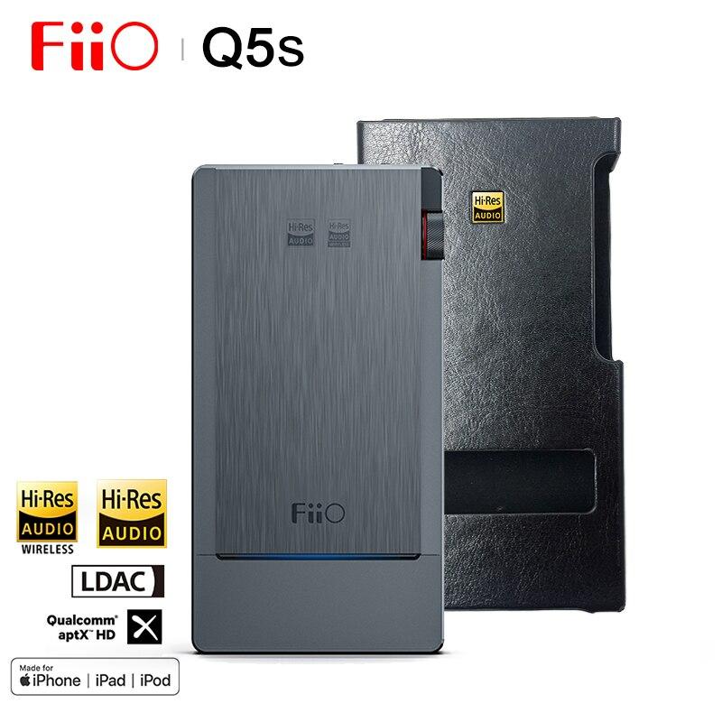 FiiO Q5s HIFI Audio double AK4493EQ Bluetooth 5.0 DAC amplificateur casque amplificateur PCM 768 k/32bit DSD256 2.5/3.5/4.4mm fabriqué pour iphone