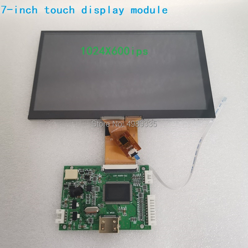 7 Inch Touch Display Module Kit IIC6P Capacitive 1024X600IPS Full Viewing Angle LCD Screen For Android Raspberry Pi