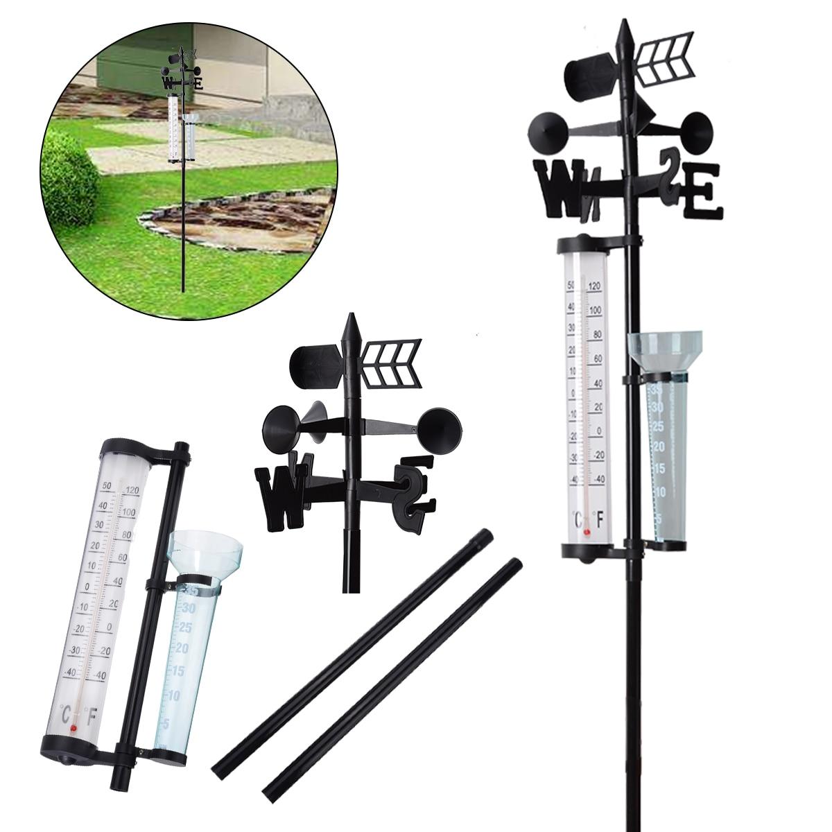 1pcs Mayitr Outdoor Garden Weather Station Meteorological Measurer Vane Wind Rain Gauge Analysis Instruments