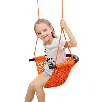 Huśtawka dla dzieci wewnątrz i na zewnątrz zabawka dla dzieci huśtawka dla dzieci na zewnątrz krzesło dla niemowląt wiszące krzesło dla niemowląt tanie i dobre opinie Babyfond 0-36 miesięcy 100kg Stałe Tkaniny Bramkarzy skoczków i huśtawki