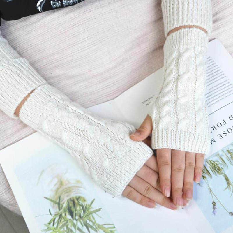 Calymel унисекс осенние и зимние рукава половина пальцев шерсть теплые вязаные
