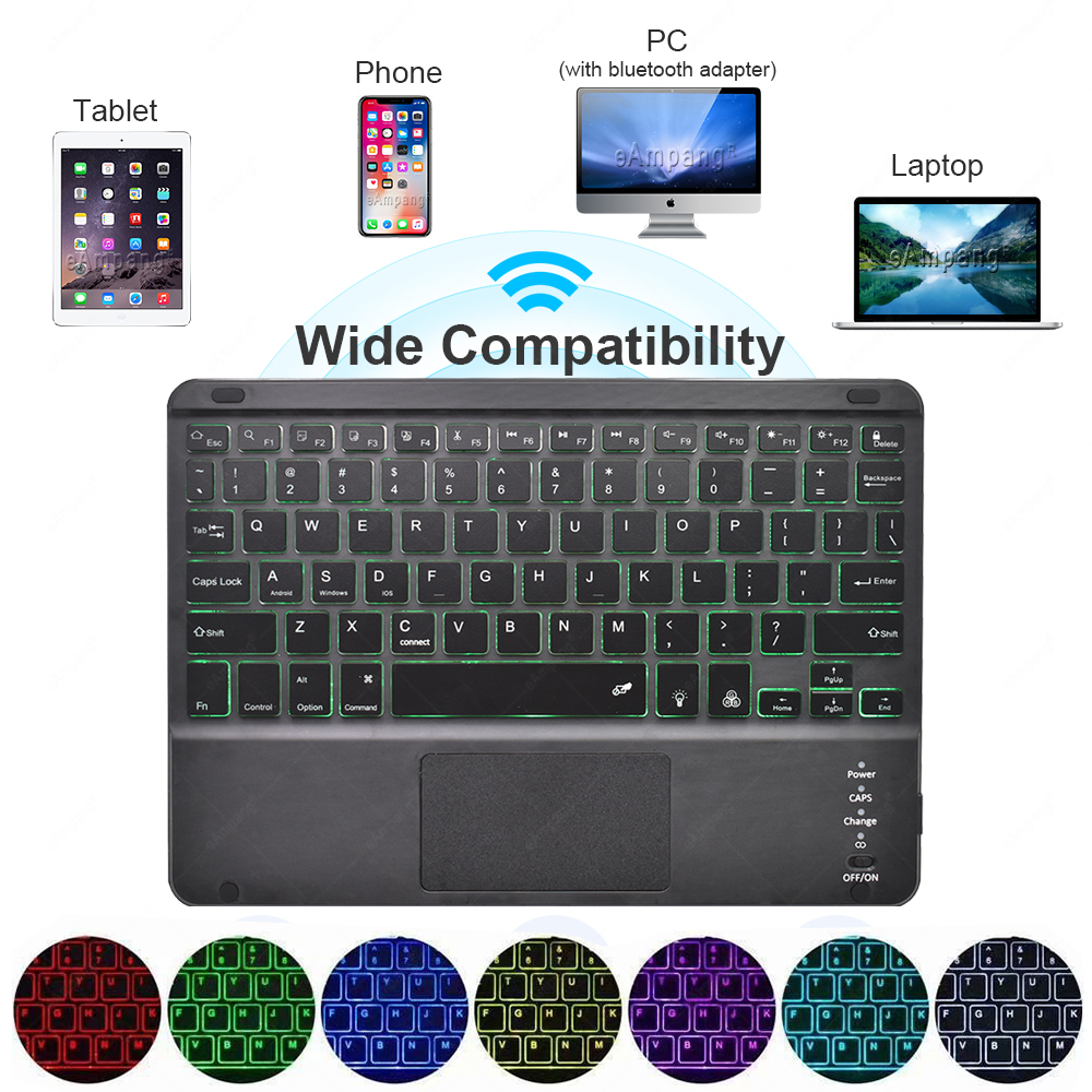 Case 8th Generation 7th Touchpad A2232 A2198 Keyboard iPad A2200 2019 with Backlit For 10.2