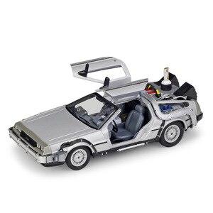 Image 5 - Carrinho de brinquedo para crianças, carrinho de brinquedo 1:24 balança para filme de volta ao futuro peça 1/2/3 DMC 12 carro de brinquedo de liga para crianças, presente