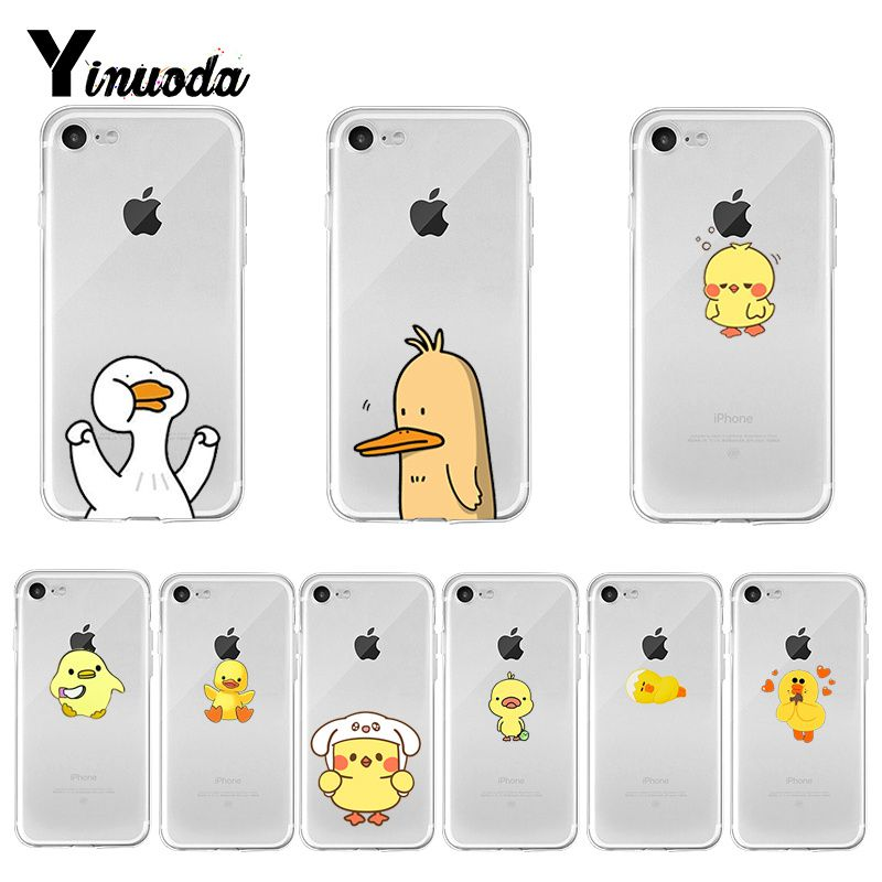 Yinuoda Cute Duck Animals Cute Phone Accessories case for iPhone 8 7 6 6S Plus X XS MAX 5 5S SE XR 11 pro max