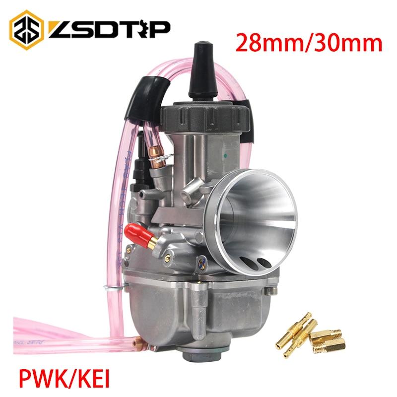Carburateur moto ZSDTRP 28mm 30mm pour Keihin PWK Carburador adapté sur 4T moteur ATV Quad Kart Scooter