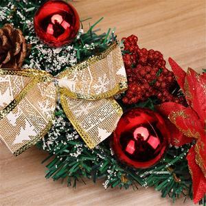 Image 5 - Christmas Wreath Handmade Rattan Pendant Christmas Garland Mall Xmas Tree Door Decoration Advent Wreath guirnalda navidad