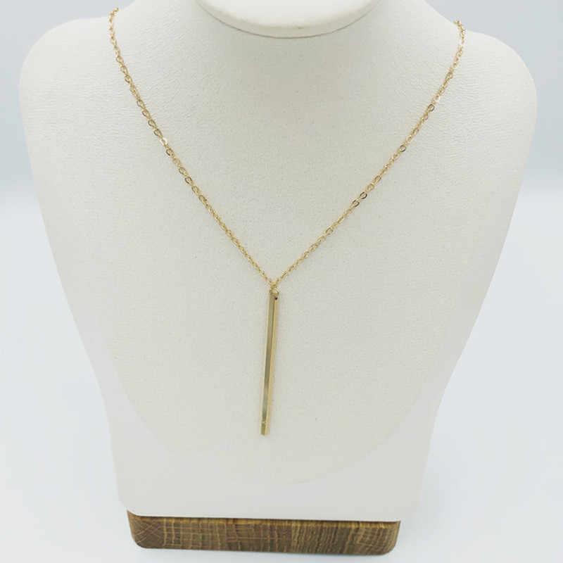ファッショナブルなスティック男性と女性シンプルで繊細な金属固体列ペンダント金と銀は、利用可能な
