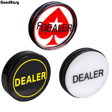 лучшая цена HOT SALE 7 Choice 1PCS Acrylic Pokerstar Dealer/ALL IN Button Texas Hold'em 3inch Pressing Poker Cards Guard poker Dealer Button