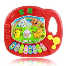 Popular Musical Instrument Toy Baby Kids Animal Farm Piano Developmental Music Toys for Children baby kids musical educational piano animal farm developmental music toy educational kids toy random color