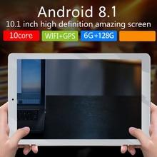 P10 модный планшет 10,1 дюймов HD с большим экраном Android 8,10 версия модный портативный планшет 6G+ 128G красный планшет с европейской вилкой