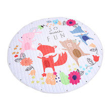 5Colors 150cm Baby Crawling Carpet Infant Play Mats Floor Rug Baby Bedding soft sleeping mat cotton Game Pad Kids Room Decor J75 недорого