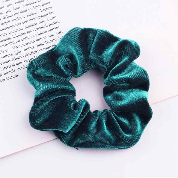 33Colors Korea Velvet Hair Scrunchie Elastic Hair Bands Solid Color Women Girls Headwear Ponytail Holder Hair Accessories
