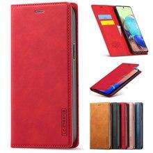 Lüks deri Flip Case Samsung Galaxy S21 S20 S10 S9 S8 artı S20 FE Ultra A51 A71 A41 A21S a11 A31 cüzdan telefon kılıfı çapa