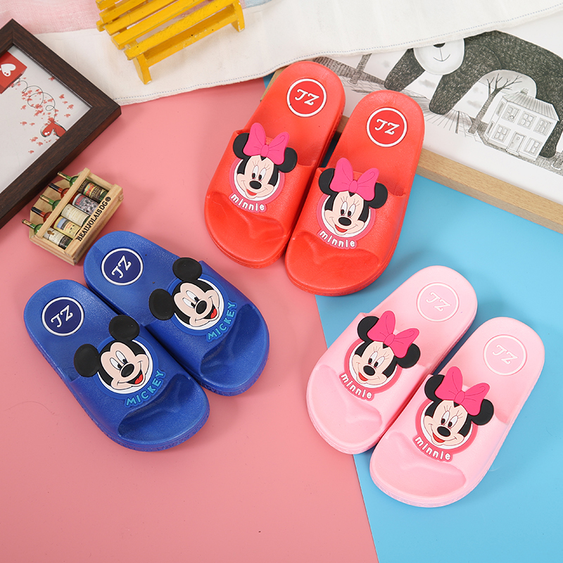 2019 New Summer Children Cartoon Mickey Minnie Sandal Baby Boys Girl Slippers Kids Antiskid Slippers Beach Shoes Kids Flip Flops