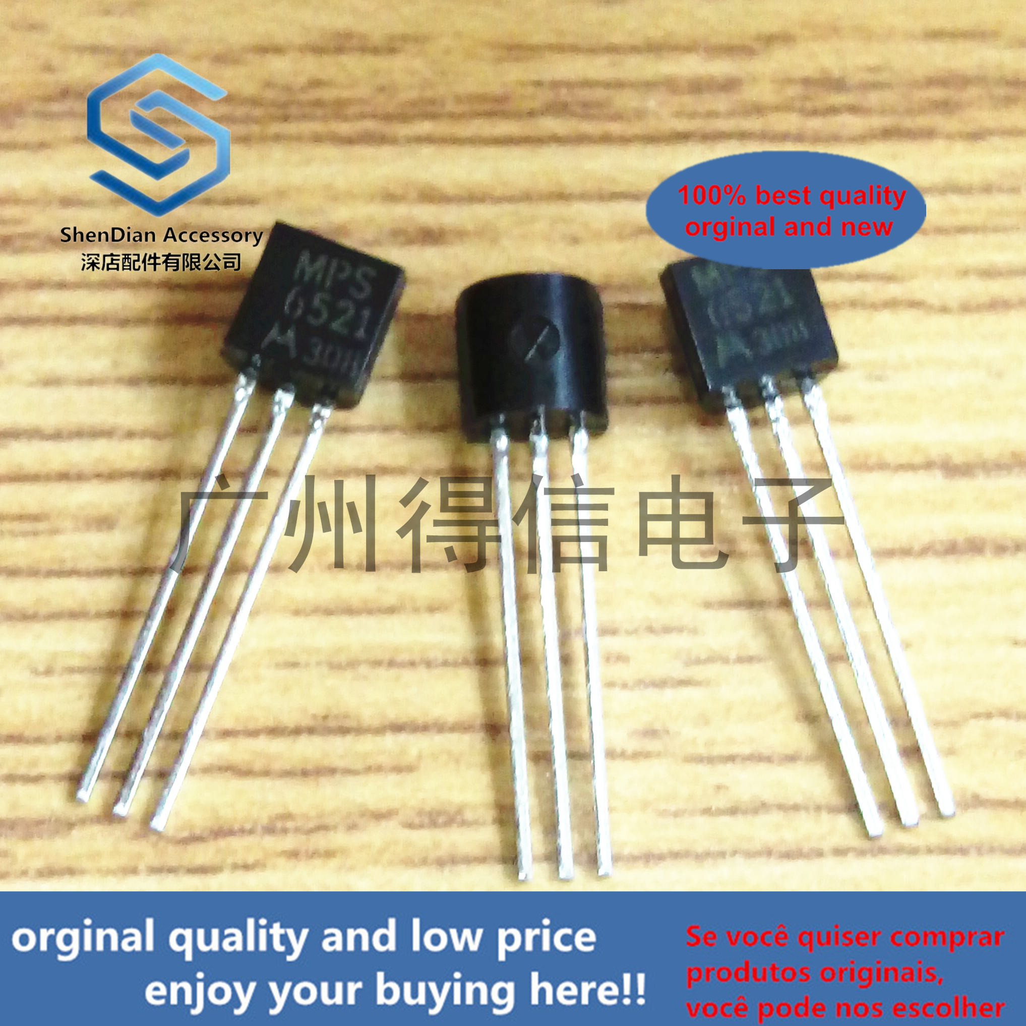 10pcs 100% Orginal New MPS6521 6521 40V 0.1A 625MW TO-92 Real Photo