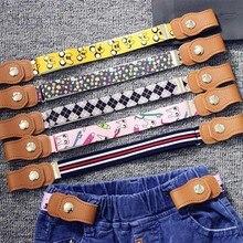 Детский Легкий ремень без пряжки, регулируемые пряжки для девочек и мальчиков, тянущиеся брезентовые ремни, детские джинсы, брюки эластичные ремни