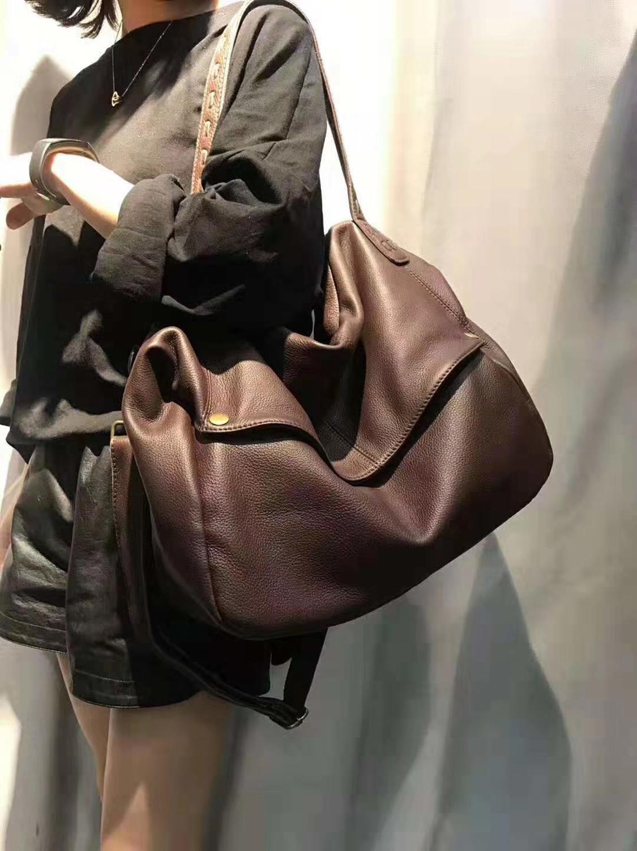 Top Quality Handbags Women Genuine Cow Leather Bag Big Portable Shoulder Bag Female Casual Tote Messenger Bag Large Capacity