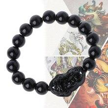 10MM Black Feng Shui Obsidian Stone Wealth Pi Xiu Bracelet A