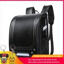 Disney 2019 Kid Backpack For Luxury School Bag Boy And Girl Japanese PU Hasp Solid Randoseru Orthopedic Children Backpacks