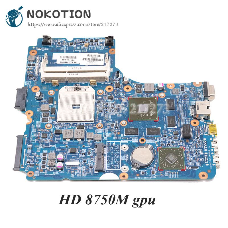 NOKOTION 722818-501 722818-001 For <font><b>HP</b></font> Probook <font><b>455</b></font> 445 G1 Laptop <font><b>Motherboard</b></font> 48.4ZC03.011 Socket FS1 DDR3 HD 8750M GPU image