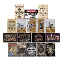 Nueva tienda de tatuajes Barbershop colgante decoración de pintura Metal cartel de placa pared vintage PEGATINAS ARTE placas decoraciones 20x30cm