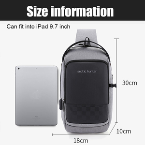 Image 5 - ARCTIC HUNTER 2020 USB su geçirmez erkek göğüs çantası erkek eğlence Messenger omuz gençler için çanta seyahat Crossbody Bolsas