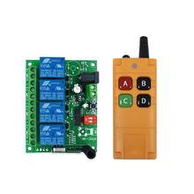 DC 12V 24V 10A 4 channel relay switch RF Wireless Remote Control system Receiver Transmitter 433mhz Fan/Motor